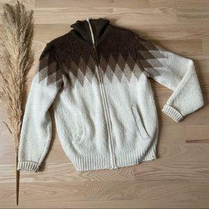 Vintage Sears 70's Wool Zip Up Jacket   Medium